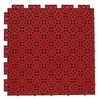 Suspended sport floor tiles FX05 red