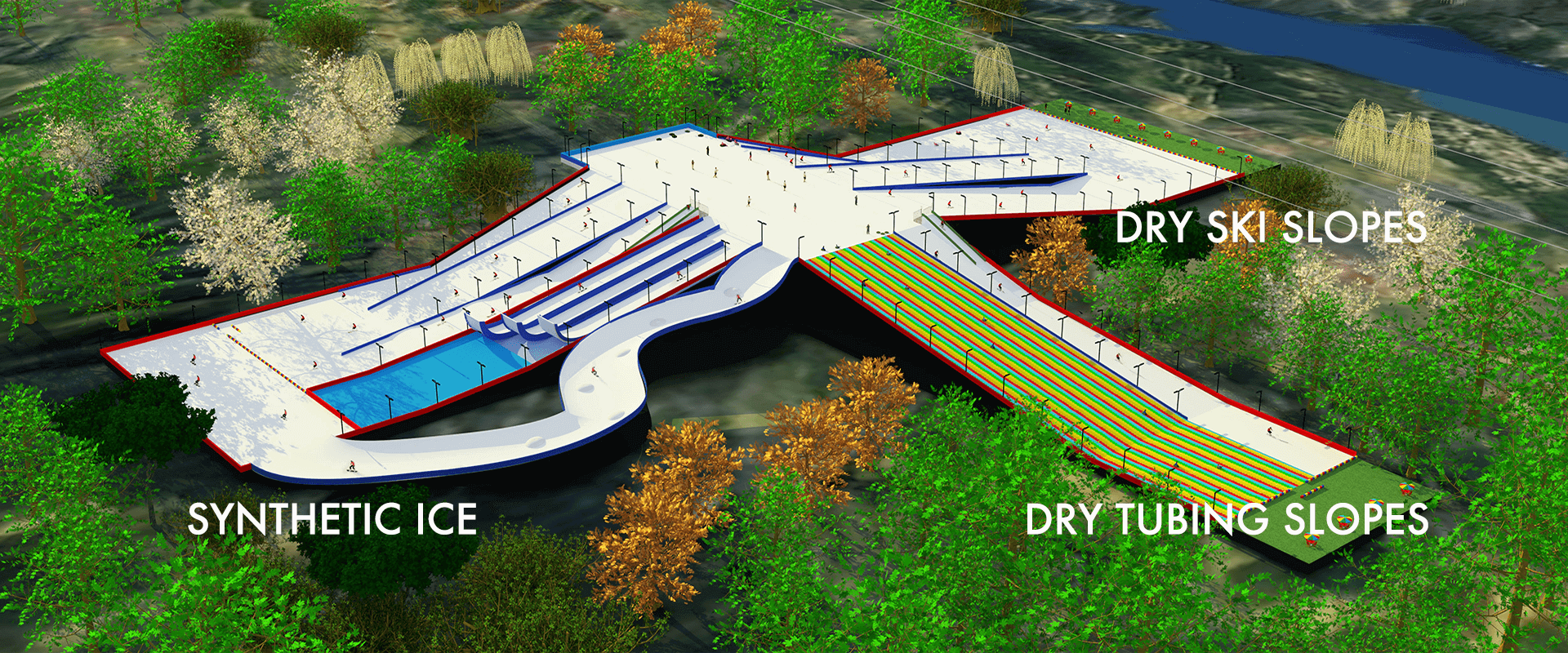 Synthetic ice & Dry ski slopes