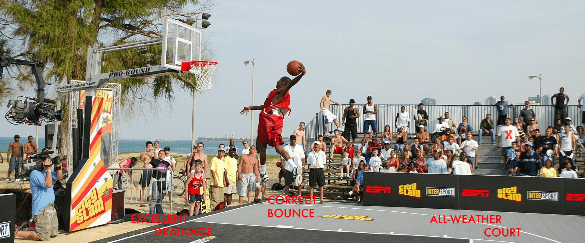 basketball court banner